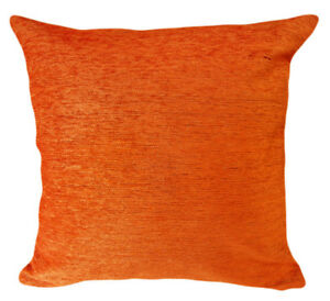 Wb06Ba Plain Orange Chenille Cotton Throw Cushion Cover/Pillow Case*Custom Size*