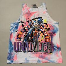 Vintage 1991 Unadilla Valley Sports Center New York Moto Cross Tank Shirt Large