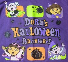 NEW Dora's Halloween Adventure Tee Cat & Lady Bug Costumes + Boots & Pumpkin 3T