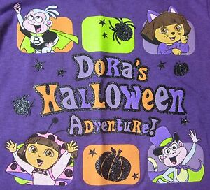 NEW Dora's Halloween Adventure Tee Cat & Lady Bug Costumes + Boots & Pumpkin 3T