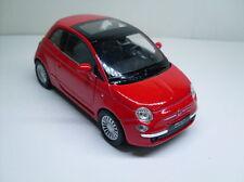 Fiat 500 rot, Welly Auto Modell ca. 1:35-1:38, Neu, OVP