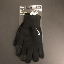 NIKE Knit Tech Grip Gloves Touchscreen Unisex L/XL Black/Charcoal/White