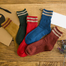 1 Pair New Womens Cashmere Wool Thick Warm Socks Winter Fashion Striped Design