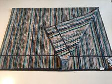 "New MISSONI Signature Blue Stripe Cotton Terrycloth XL Bath Beach Towel 40""x59"""