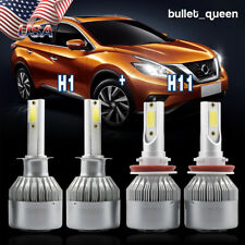 H1 H11 LED Headlight High Low Beam Kit for Ford Focus 2012-2017 Kia Forte Optima