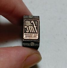 Vintage Letterpress Printing Block Food Machinery and Chemical Corporation Logo