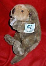"""Sea Otter w/ Felt Shell from Monterey Bay Aquarium 1998 Plush 12"""" w/hang tag"""