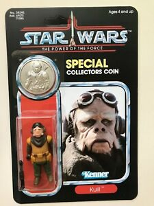 RETRO COLLECTION KUIIL ON POWER OF THE FORCE CARD & COIN SILVER COIN NICK NOLTE