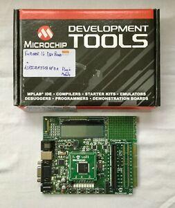 PIC Microchip Explorer16 development board and dsPIC33FJ256GP710A plug-in board