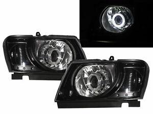 Patrol Safari Y61 04-ON 5D Guide LED Halo Projector Headlight BK for NISSAN RHD