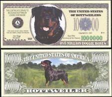 ROTTWEILERS Million Note ~ Crisp  Fantasy Note ~ Huge Rottweilers