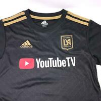 Adidas LAFC Los Angles FC MLS YouTube Soccer Jersey Boys Size 7 Large