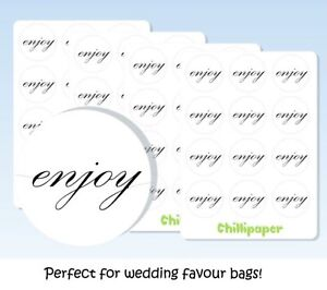 Enjoy labels, Wedding favour, gift labels, Gift stickers, #1032