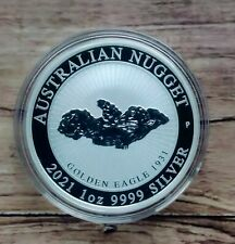 2021 Australian Nugget Golden Eagle 1oz Silver Bullion Coin in capsule.