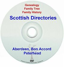 Family Tree Genealogy Scotland Aberdeen Bon Accord Peterhead Directories New DVD