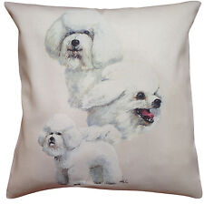 Bichon Frise Group Breed of Dog Cotton Cushion Cover - Perfect Gift