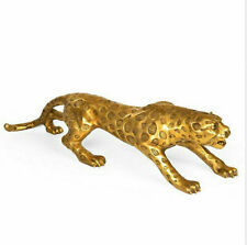Asian Leopard Brass Figurine Animal Statue Decoration