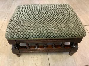 Small Antique Victorian Spindle  Footstool