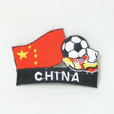 CHINA SOCCER FOOTBALL KICK COUNTRY FLAG EMBROIDERED IRON-ON PATCH CREST BADGE