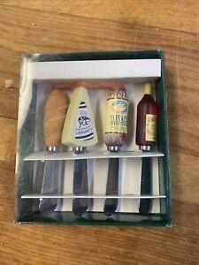 Boston Warehouse Vin and Saucisse Stainless Steel Spreader Knives
