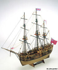 """Detailed, Classic Wooden Model Ship Kit by Mamoli: the """"Endeavour"""""""