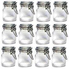 Storage cucina vetro preservare Mini barattoli con Clip Top VASO CONTENITORE FILTRO