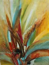 1983 Modernist floral oil painting signed