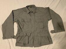 Military Tactical Uniform Coat HOT WEATHER Fatigue Jacket SILVER GREY MEDIUM REG