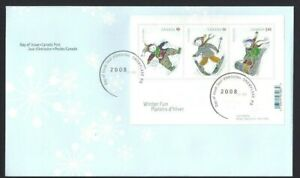 Canada   # 2291 SS     CHRISTMAS     Brand New 2008 Unaddressed Cover