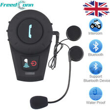 FDCVB Motorcycle Intercom 500M Bluetooth Helmet Headset 3 Rider Intercom & FM UK