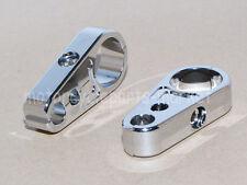 "2X Chrome 25mm 1"" Brake Line Clutch Cable Handlebar Frame Clamp For Harley"
