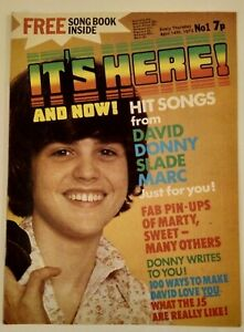 IT'S HERE AND NOW #1 (1973) Donny Osmond The Sweet Marc Bolan Alice Cooper Slade