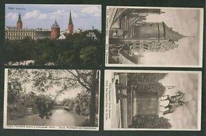 4 Vintage Postcards, Riga, Latvia