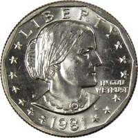 1981 D Susan B Anthony Dollar BU Uncirculated Mint State SBA $1 US Coin