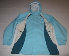 Girls The North Face HyVent Windbreaker Rain Hoodie Jacket Youth XL 18 Blue