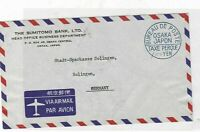 japan osaka post bureau label stamp cover  ref 10098