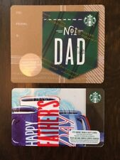 """Canada Series Starbucks """"FATHERS DAY SET 2018"""" Lot of 2 Gift Cards -New No Value"""