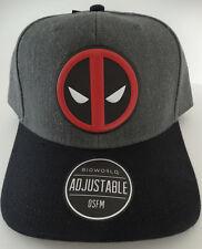 Deadpool Logo Chrome Weld Marvel Comics Snap Back Curved Bill Hat Nwt 9d368a5de7d3