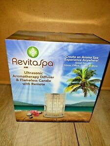 RevitaSpa Aromatherapy Essential Oil Diffuser & Flameless Candle SILVER - NEW