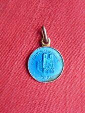 ancienne petite médaille émaillée argent souvenir cathédrale de REIMS silver