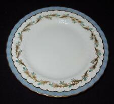 Aynsley China, England, 8309 Marjorie, Blue & Gold Rim, Bread Plate, 6 3/8""