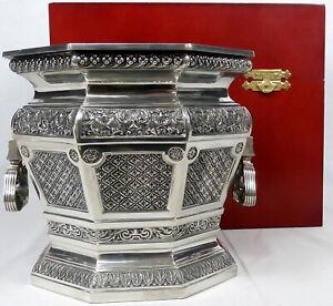 VTG Royal Selangor Pewter Champagne Bucket Hand Finished w/Wood Presentation Box