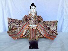 JD 101 Japanese Antique Emperor Hina Doll Ningyo Extra Large