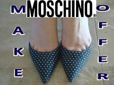 Designer shoes MOSCHINO Prom shoes Wedding shoes Italian shoes Polka Dot shoes