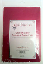 "NEW GC-003 Spellbinders Grand Calibur Raspberry Spacer Adapter Plate 8.25"" x 12"""
