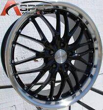 MRR GT1 19X8.5 5X114.3 +35 BLACK MACHINED RIMS WHEELS