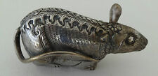 Antique Silver Cambodian Mouse Betel Nut Box