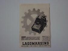 advertising Pubblicità 1941 MACCHINA PER SCRIVERE LAGOMARSINO TOTALIA
