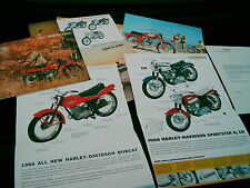 HARLEY DAVIDSON BROCHURES LOT OF 6:  1966 WITH LETTER  ENVELOPE CAN'T BEAT IT