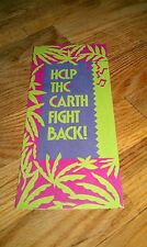 VISA Help The Earth Fight Back Friends Of The Earth 1st American Bank Brochure